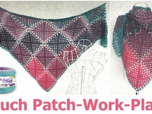 Tuch Patch-Work-Play aus 1 BOBBEL COTTON von Woolly Hugs häkeln