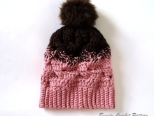 Gradient Color Cable Hat