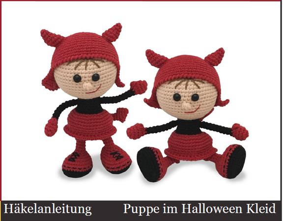 158DE Häkelanleitung Puppe im Halloween Kleid - Amigurumi PDF ...
