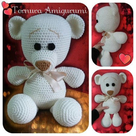 Crochet pattern of sweet bear 38cm! PDF english- deutsch- dutch ternura amigurumi