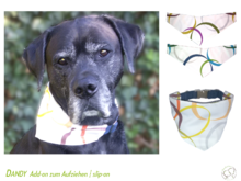 Dandy slip-on add-on revers. dog bandana sewing tutorial
