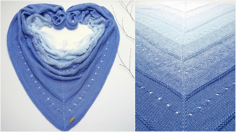 Knitting Pattern – Triangular Shawl LISSIEEE XXL – no.208E