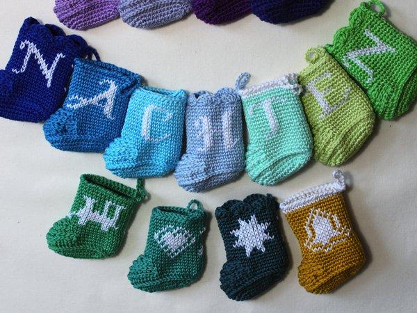 Häkelanleitung Adventkalender Baby-Booties