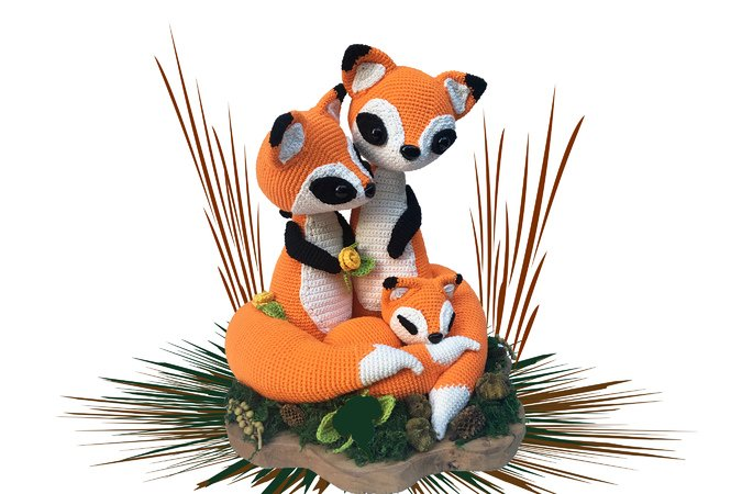 Fox family Pattern Amigurumi PDF Deutsch - English