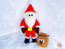 Santa Claus the big fluffy Santa Claus - crochet patterns