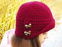 Hat crochet pattern for toddlers, girls, women