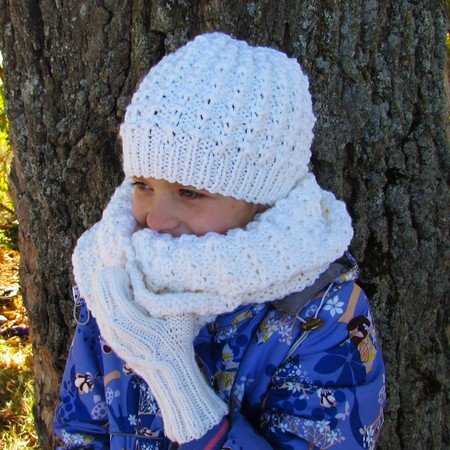 Hat knitting pattern, size for toddler, child, adult.