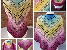 "Crochet Pattern ""Tringular shawl - Infintio"" UK Term"