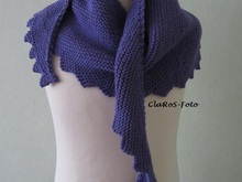 Shawl Hanlei - detailed knitting pattern