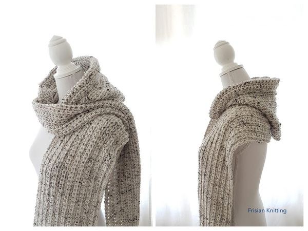 Crochet pattern scoodie / pattern hooded scarf