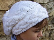 Knitting pattern beanie hat, size for toddler, child, adult.