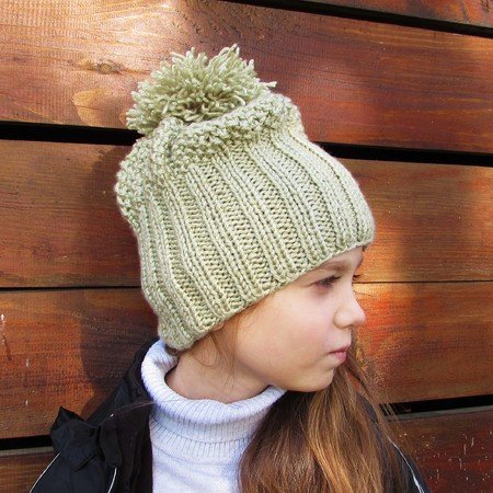 Hat knitting pattern, size for toddler, child, adult
