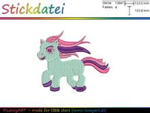 "Stickdatei ""Pony"" - Format: DST & PES"