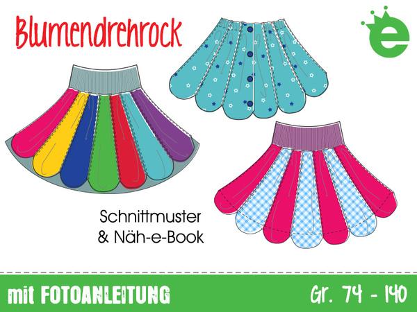 Blumendrehrock Gr. 74-140 • E-Book & Schnittmuster