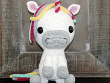 unicorn Mina crochet pattern english