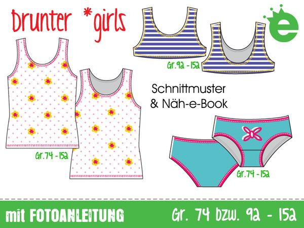 Mädchen-Unterwäsche Drunter *girls • Gr. 74-152 • Schnittmuster ...