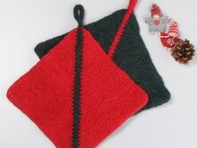 Felted Christmas Potholders