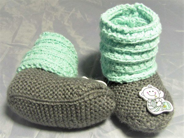 Babyschuhe Häkeln Stricken Nähen Wollreste Für Babyschuhe