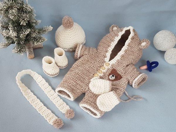 Puppenkleidung Häkeln Winteroutfit Häkeln