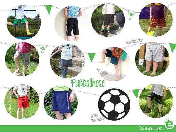 Fußballhose // Gr. 98–164 Schnittmuster & Näh-E-Book
