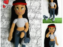 Milly doll crochet pattern PDF english- deutsch-dutch ternura amigurumi