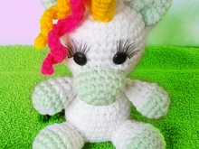 Crochet pattern of flipp, the unicorn PDF ternura amigurumi english