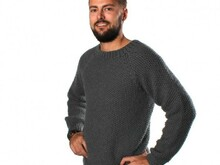 Asger Sweater in Seed Stitch