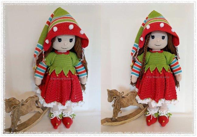 Puppe Häkeln Weihnachts Elfen Kostüm