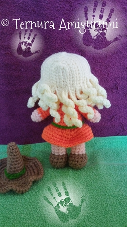 Crochet pattern of Lilly, the witch girl PDF by ternura amigurumi english