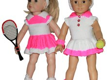 PDF Knitting Pattern- Tennis Fun for 18'' Dolls
