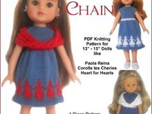 PDF Knitting Pattern - Dolly Chain for 13-15'' dolls