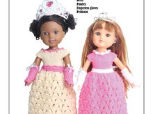 PDF Knitting Pattern - My Little Princess for 13-15'' Dolls