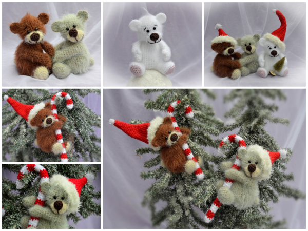 Teddy Häkeln Weihnachtsdeko Zuckerstange
