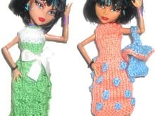 PDF Knitting Pattern - Shopping Spree For Monster High Dolls