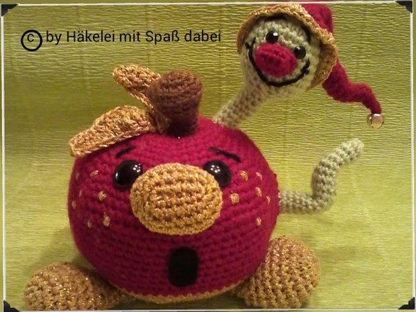 Amigurumi Häkeln Apfel Mit Wurm Diy Pdf