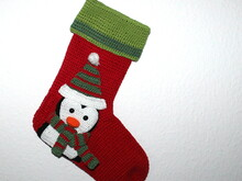 xmas stocking penguin crochet pattern english
