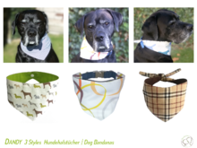 Dandy 3 Styles Set: Dog Bandana Sewing Patterns