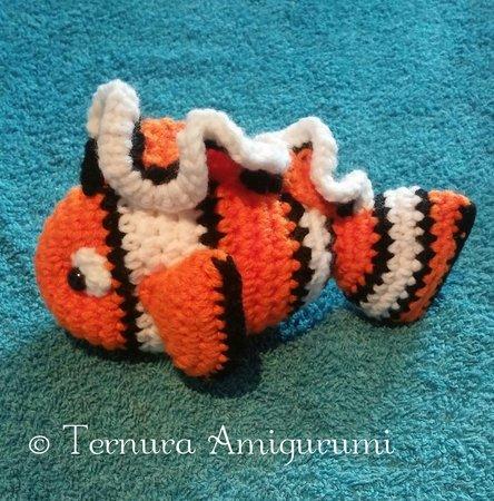 Nemo - free crochet pattern | Figuren häkeln, Häkeln spielzeug ... | 450x444