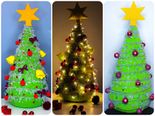 Christmas tree 50 cm (20 in) tall - crochet pattern