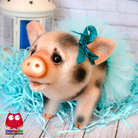 Tutorial Peppa Pig Amigurumi in English | Lanas y Ovillos in ... | 450x450