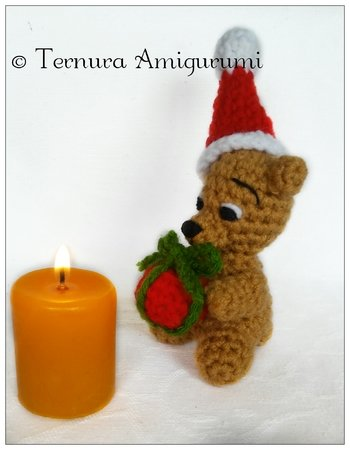 Crochet pattern for little bear Christmas PDF ternura amigurumi english