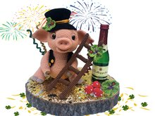 Lucky pig - Silvester Pattern Amigurumi PDF Deutsch - English