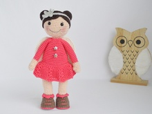 "Crochet Pattern Guardian Angel Doll ""Mariella"""