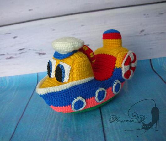 FREE Pattern Pfiffigstes boat, boat | Häkeln auto, Jungen häkeln ... | 450x529