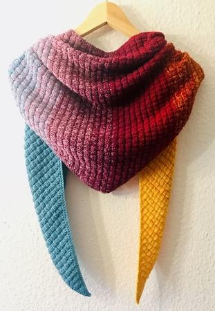 Tuch stricken / beeindruckendes Flecht-Muster