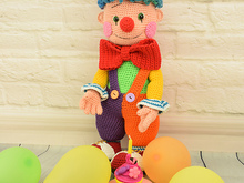 Fooly the clown - amigurumi toy. Crochet doll pattern