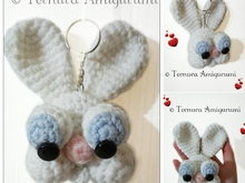 Crochet pattern rabbit keychain PDF ternura amigurumi english