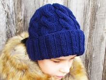 knitting pattern cap size for toddler, child, adult