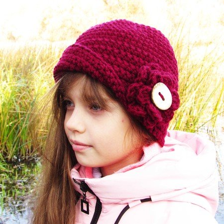 Hat crocheting pattern, size for toddler, child, adult.