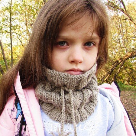 Hat / Scarf knitting pattern, size for toddler, child, adult